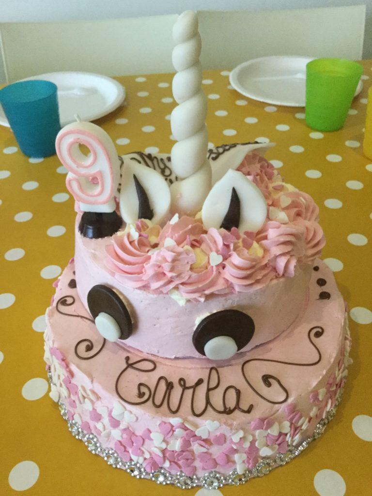 Gâteau d'anniversaire Licorne A table l'atelier gourmand